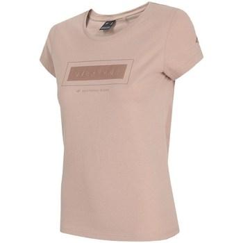 Oblačila Ženske Majice s kratkimi rokavi 4F TSD034 Roza