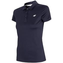 Oblačila Moški Polo majice kratki rokavi 4F TSDF080 Črna