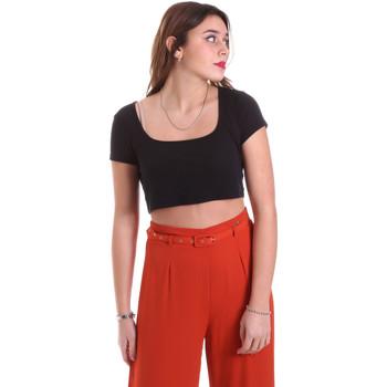 Oblačila Ženske Topi & Bluze Vicolo UK0291 Črna