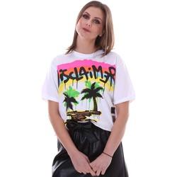 Oblačila Ženske Majice s kratkimi rokavi Disclaimer 21EDS50632 Biely