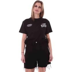 Oblačila Ženske Majice s kratkimi rokavi Disclaimer 21EDS50642 Črna