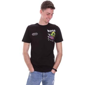 Oblačila Moški Majice s kratkimi rokavi Disclaimer 21EDS50522 Črna