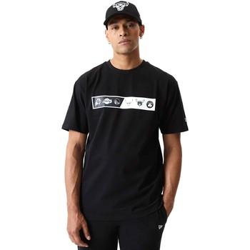 Oblačila Moški Majice s kratkimi rokavi New-Era 12553333 Črna