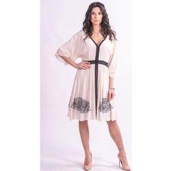 Oblačila Ženske Kratke obleke Fracomina F321SD2002W41801 Brezbarven