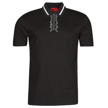 Oblačila Moški Polo majice kratki rokavi HUGO DOLMAR Črna / Bela