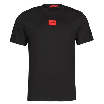 Oblačila Moški Majice s kratkimi rokavi HUGO DIRAGOLINO Črna / Rdeča
