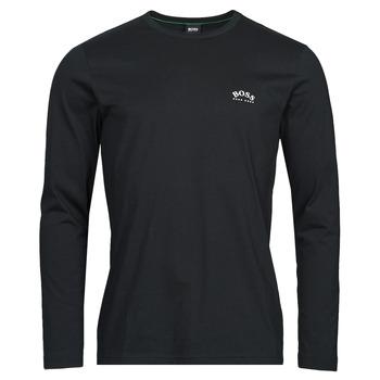 Oblačila Moški Majice z dolgimi rokavi BOSS TOGN CURVED Črna