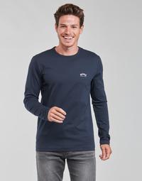Oblačila Moški Majice z dolgimi rokavi BOSS TOGN CURVED Modra