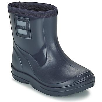 Čevlji  Dečki škornji za dež  BOSS MELODY Modra