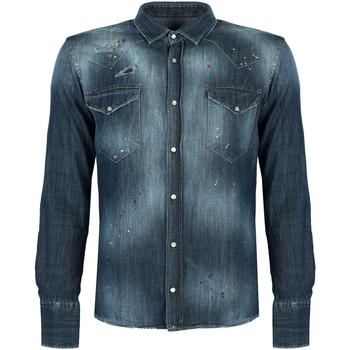Oblačila Moški Srajce z dolgimi rokavi Takeshy Kurosawa  Modra