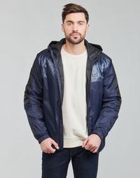 Oblačila Moški Jakne Emporio Armani EA7 TRAIN LOGO SERIES Modra