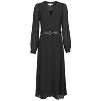Oblačila Ženske Dolge obleke MICHAEL Michael Kors CRINKLE DOTS KATE DRS Črna