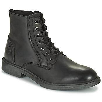 Čevlji  Moški Polškornji Jack & Jones JFW KARL LEATHER BOOT Črna