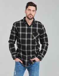 Oblačila Moški Srajce z dolgimi rokavi Rip Curl CHECKED OUT L/S FLANNEL Črna