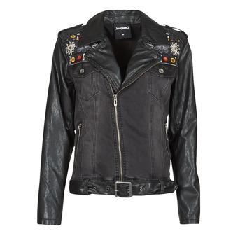 Oblačila Ženske Usnjene jakne & Sintetične jakne Desigual MERX Črna