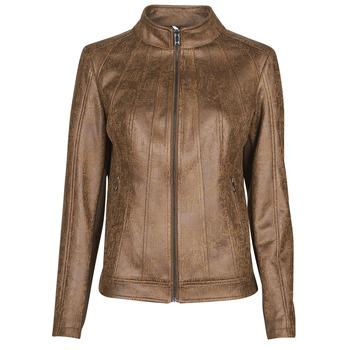 Oblačila Ženske Usnjene jakne & Sintetične jakne Desigual COMARUGA Kostanjeva