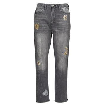 Oblačila Ženske Jeans straight Desigual LAGUN Siva