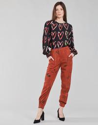 Oblačila Ženske Lahkotne hlače & Harem hlače Desigual CAMOTIGER Rdeča