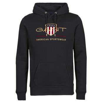 Oblačila Moški Puloverji Gant ARCHIVE SHIELD HOODIE Črna