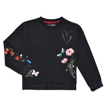 Oblačila Deklice Puloverji Desigual ALICIA Črna
