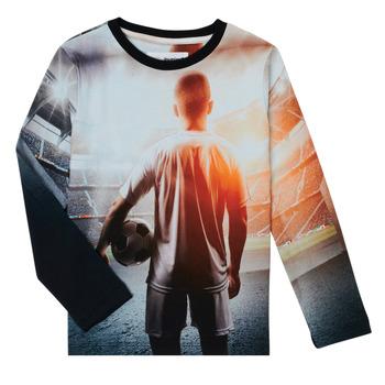 Oblačila Dečki Majice z dolgimi rokavi Desigual FOOTBALL Siva