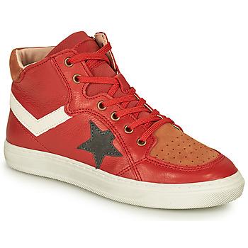 Čevlji  Dečki Visoke superge Bisgaard ISAK Rdeča