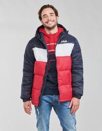 Oblačila Moški Puhovke Fila SCOOTER PUFFER JACKET Rdeča / Bela
