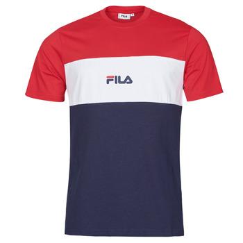 Oblačila Moški Majice s kratkimi rokavi Fila ANOKI Rdeča / Bela