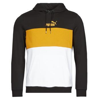 Oblačila Moški Puloverji Puma ESS+ COLORBLOCK HOODIE FL Črna / Rumena
