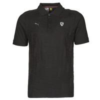 Oblačila Moški Polo majice kratki rokavi Puma FERRARI STYLE JACQUARD POLO Črna