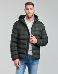 Oblačila Moški Puhovke Geox SANDFORD Črna / Kaki