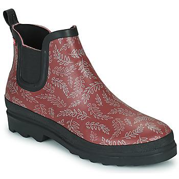 Čevlji  Ženske škornji za dež  Sanita FELICIA Bordo