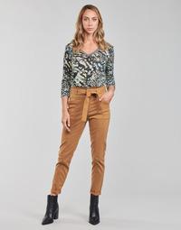 Oblačila Ženske Hlače s 5 žepi One Step FT22111 Bež