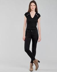 Oblačila Ženske Hlače s 5 žepi Morgan PETRA Črna
