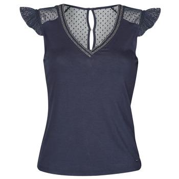 Oblačila Ženske Majice s kratkimi rokavi Morgan DUCHES Modra
