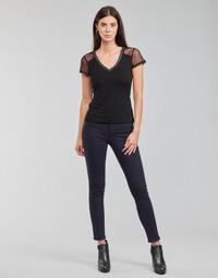 Oblačila Ženske Hlače s 5 žepi Morgan PETRA Modra