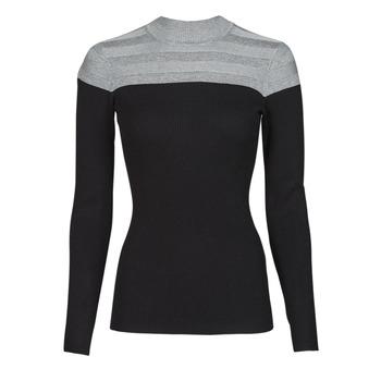 Oblačila Ženske Puloverji Morgan MICO Siva / Črna