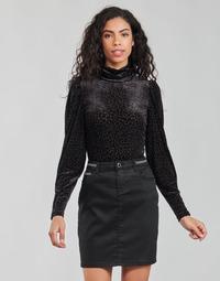 Oblačila Ženske Majice z dolgimi rokavi Morgan TISPI Črna