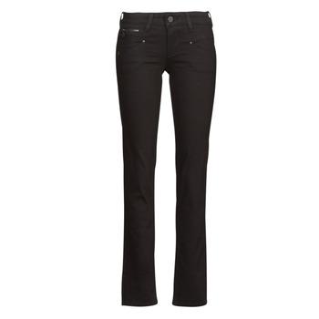 Oblačila Ženske Jeans straight Freeman T.Porter ALEXA STRAIGHT S-SDM Črna