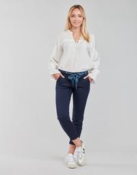 Oblačila Ženske Hlače s 5 žepi Freeman T.Porter CLAUDIA FELICITA Modra