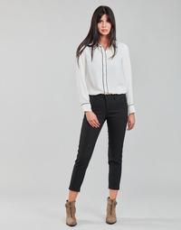 Oblačila Ženske Hlače s 5 žepi Freeman T.Porter CLAUDIA POLYNEO Črna