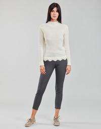 Oblačila Ženske Hlače s 5 žepi Freeman T.Porter ADELIE PRINCESS Siva / Antracitová