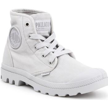 Čevlji  Ženske Visoke superge Palladium Manufacture US PAMPA HI F Vapor 92352-074-M grey