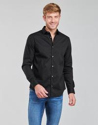 Oblačila Moški Srajce z dolgimi rokavi Emporio Armani 8N1C09 Črna