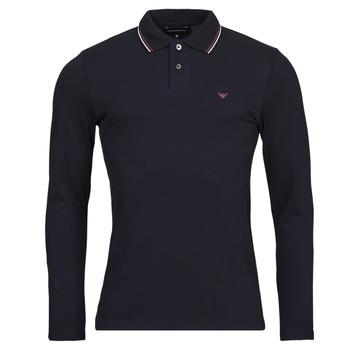 Oblačila Moški Polo majice dolgi rokavi Emporio Armani 8N1FB5 Modra
