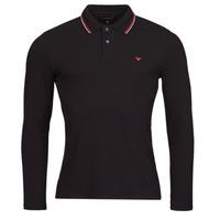 Oblačila Moški Polo majice dolgi rokavi Emporio Armani 8N1FB5 Črna