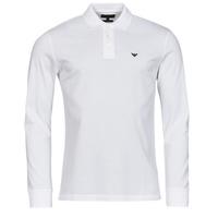 Oblačila Moški Polo majice dolgi rokavi Emporio Armani 8N1FQ0 Bela
