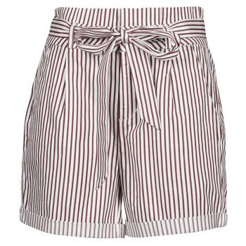 Oblačila Ženske Kratke hlače & Bermuda Vero Moda VMEVA Bela / Kostanjeva