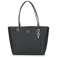 Torbice Ženske Nakupovalne torbe Guess NOELLE ELITE TOTE Črna