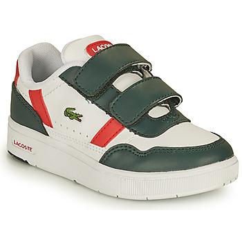 Čevlji  Otroci Nizke superge Lacoste T-CLIP 0121 2 SUI Bela / Zelena / Rdeča